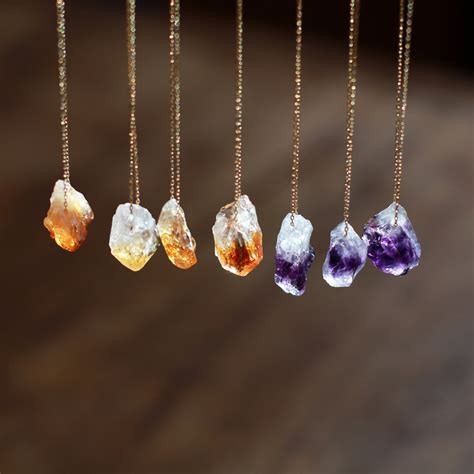 stones and for jewelry gemstone necklace citrine necklace