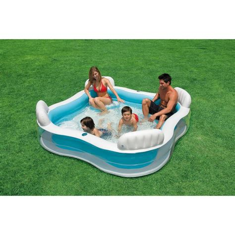 New Kolam Intex Swim Cwnter Family intex swim centre family lounge large paddling swimming seat pool ebay