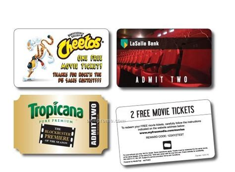 Movie Ticket Gift Cards - 1 movie ticket card china wholesale 1 movie ticket card