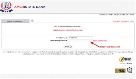 reset online banking password td reset my online banking password ameristate bank online
