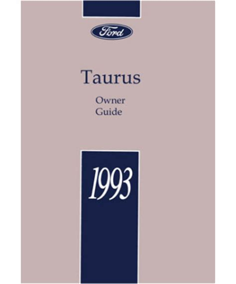 auto repair manual online 1993 ford taurus head up display 1993 ford e350 owners manual download