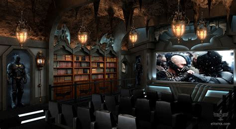 casual and comfortable brooklyn home stays true to its dark knight themed home theater every man s batcave dream