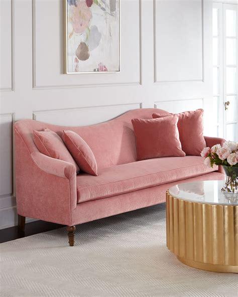 cerise velvet sofa best pink couches popsugar home photo 5