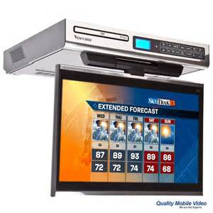 Venturer klv3915 under cabinet kitchen tv left side of tv