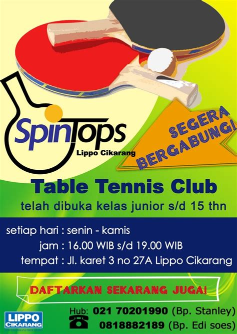 Meja Pingpong Cikarang poster spintops lippo cikarang by rndesign on deviantart