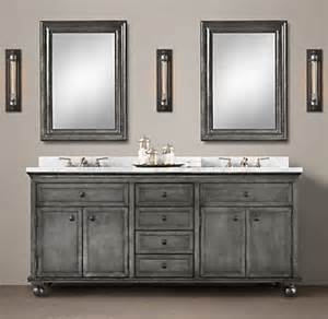 72 Inch White Vanity Annecy Metal Wrapped Double Vanity