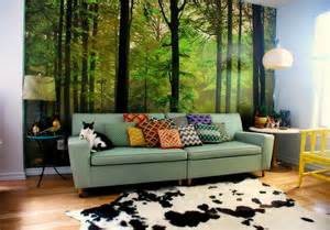 Wall Murals For Living Room Living Room Forest Wall Murals Decal A Interior