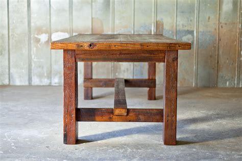 broad farm table reclaimed wood farm table