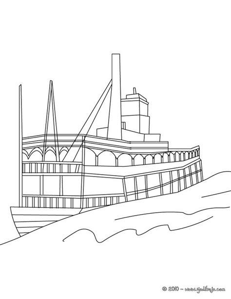barco de vapor dibujo para colorear dibujos para colorear barco de vapor es hellokids