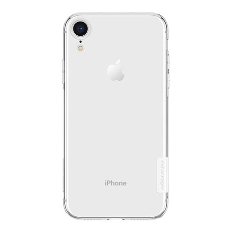 nillkin transparent soft phone for iphone xr white