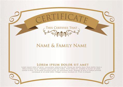 elegant certificate template vector design 06 vector