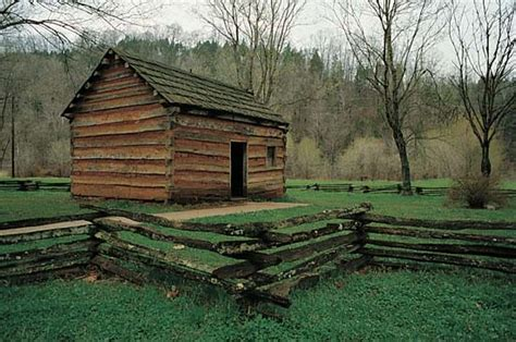 Abraham Lincolns Cabin by Lincoln Abraham Replica Of Boyhood Home