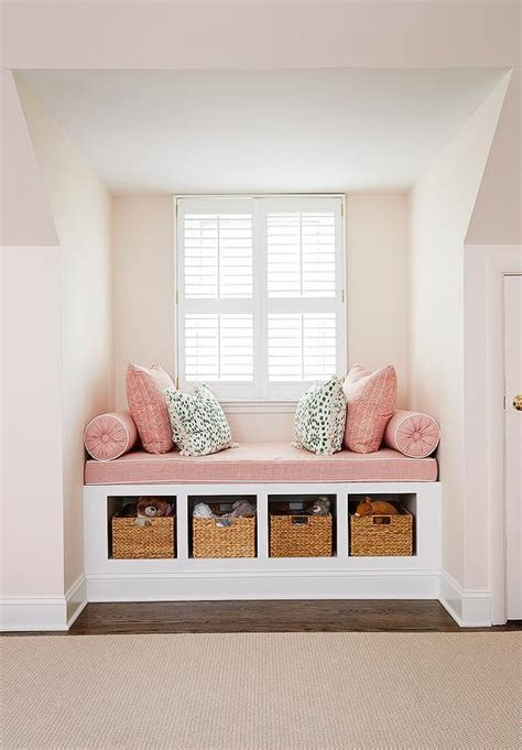 window seating kids pink window seat design ideas
