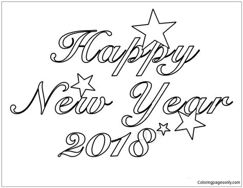 new year 2018 color 2018 happy new year coloring page free coloring pages