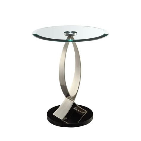 Black Glass Side Table Powell Black Glass Top Side Table 317 894 The Home Depot