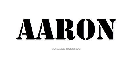 aaron tattoo aaron name designs