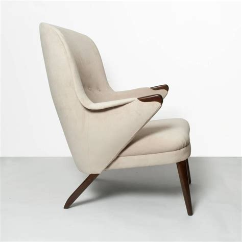 Curved Lounge Chair by Scandinavian Modern Curved High Back Upholstered Lounge
