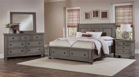 storehouse bedroom furniture reflections antique pewter sleigh storage bedroom set from
