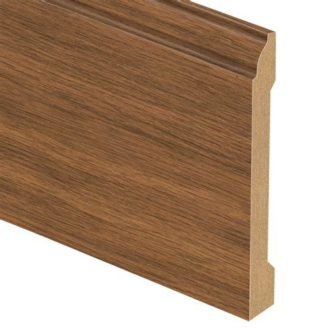 zamma asheville hickory 9 16 in thick x 5 1 4 in wide x 94 in length laminate base molding