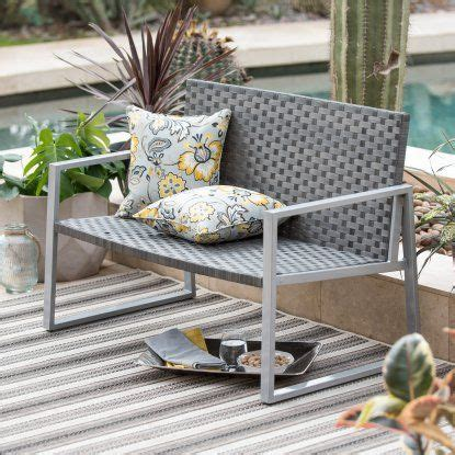 all weather wicker bench 17 best ideas about metal outdoor bench on pinterest garden benches uk outdoor