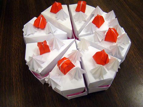 Origami Birthday Cake - cake origami images craft decoration ideas