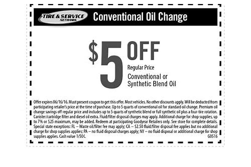 direct tire coupon oil change