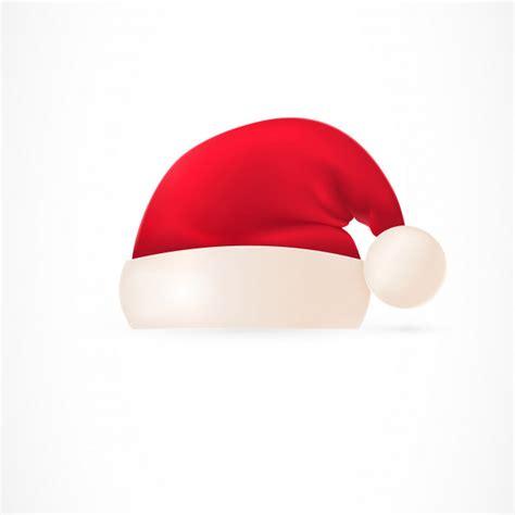 santa cap santa hat with pompom vector free