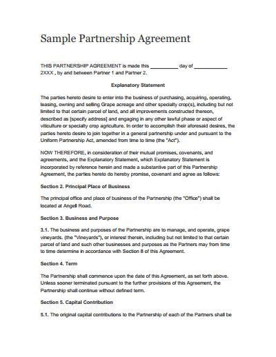 Partnership Agreement Template Free Download Create Edit Fill And Print Wondershare Pdfelement 3 Person Partnership Agreement Template