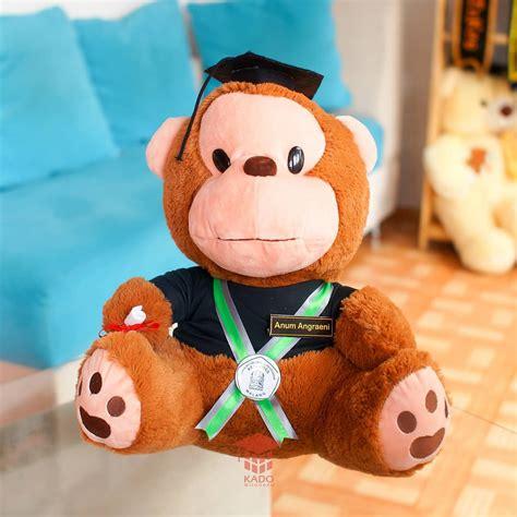 Boneka Wisuda Monyet hadiah skripsi tesis mahasiswa boneka monyet duduk kado