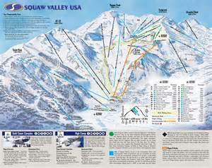 squaw valley california map squaw valley california usa ski trail map elevation