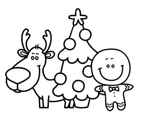 imagenes para pintar arbol navideño dibujo de reno 225 rbol y mazap 225 n para colorear