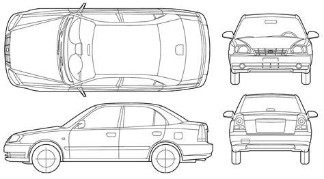 Car Blueprints Чертежи автомобилей Hyundai