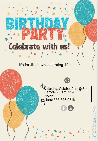40th birthday ideas hallmark birthday invitation templates