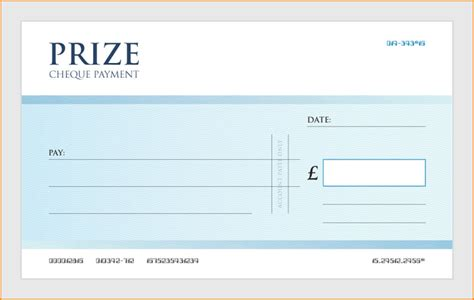 Giant Blank Cheque Template Autos Weblog Presentation Cheque Template Free