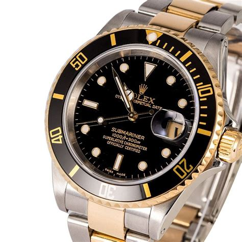 Rolex Oyster Submariner 2 rolex submariner 16613 black two tone oyster