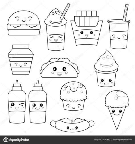 Comida Kawaii Para Colorear | comida kawaii para colorear linda comida r 225 pida comida