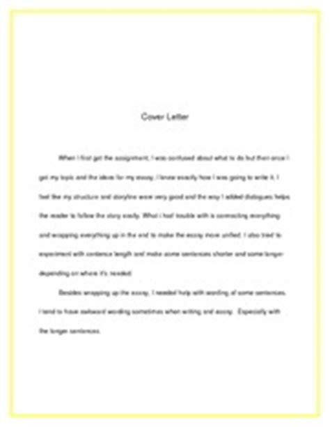 cover letter for essay #1 experiment with sentence