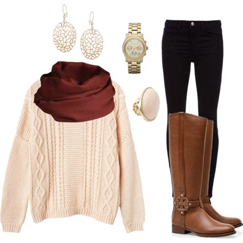 casual  comfy polyvore combos  brown boots