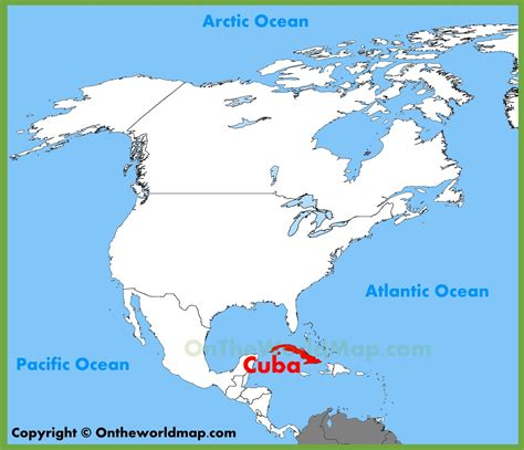 map of usa and cuba where is cuba located on a map