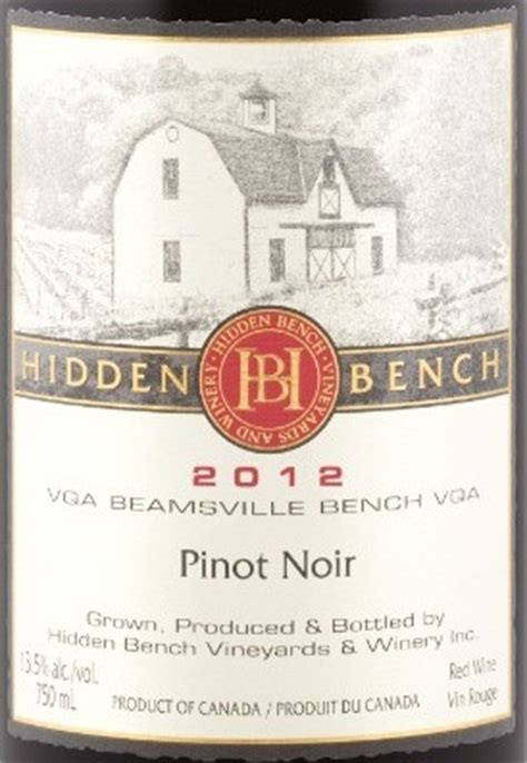 bench pinot noir 2011 bench winery bench vineyards and winery