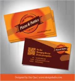 fast food business card template vector free