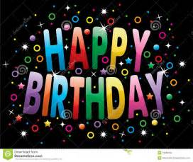 Happy Birthday Greeting Stock Photography   Image: 19684552