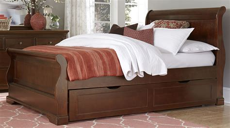 full sleigh bed walnut street chestnut riley full sleigh bed with trundle