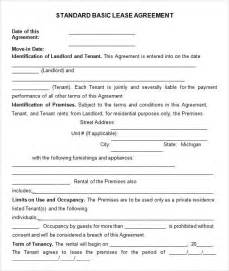 basic agreement template doc 592799 free simple lease agreement template