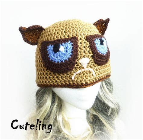 Brown Hat Meme - mean kitty hat tard the grumpy cat from cuteling on etsy