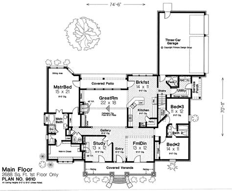 Fillmore House Plans 9610 Fillmore Chambers Design