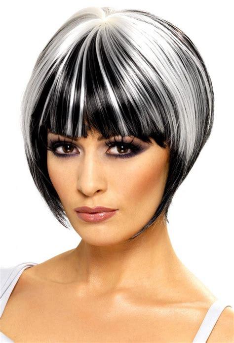short hairstyles color streaks silver streaks google search hair pinterest round
