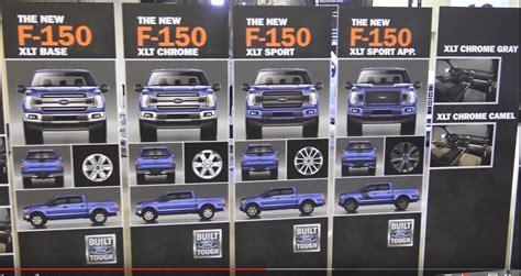 2018 ford f150 wheels 2018 f150 oem grill wheel options press event screen