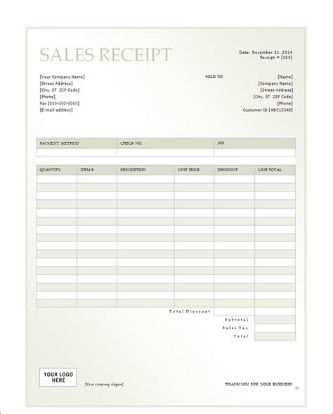 fillable sales receipt template sales receipt form sle forms