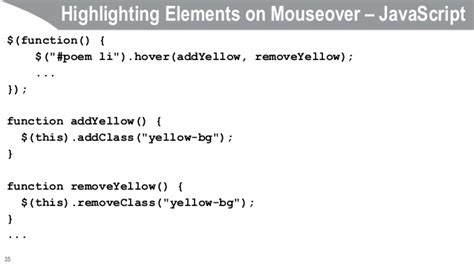 Javascript Tutorial Mouseover | javascript and jquery programming tutorial selectors and